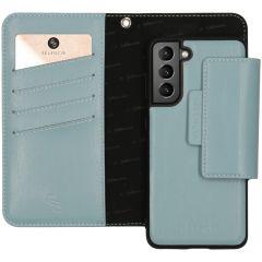 Selencia Surya Custodia rimovibile 2 in 1 in Pelle Vegana Samsung Galaxy S21 - Blu