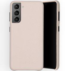 Selencia Gaia Cover Snake Samsung Galaxy S21 - Bianco