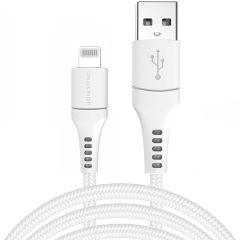 iMoshion Cavo Intrecciato USB illuminazione 3 Metri -  3 metro  - Bianco