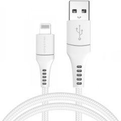 iMoshion Cavo Intrecciato USB illuminazione 1,5 Metri -  1,5 metro  - Bianco
