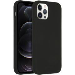 Accezz Custodia Silicone liquido con MagSafe iPhone 12 (Pro) - Nero