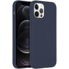 Accezz Custodia Silicone liquido con MagSafe iPhone 12 (Pro) - Blu scuro