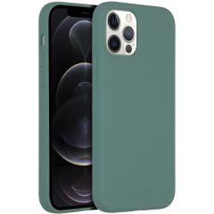 Accezz Custodia Silicone liquido con MagSafe iPhone 12 (Pro) - Verde