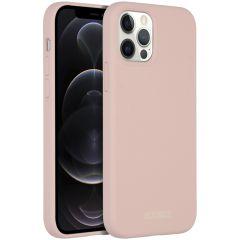 Accezz Custodia Silicone liquido con MagSafe iPhone 12 (Pro) - Rosa