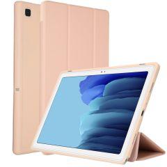 Accezz Smart Custodia a Libro in Silicone Samsung Galaxy Tab A7 - Rosa oro