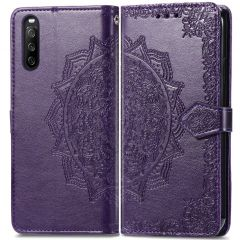 iMoshion Custodia Portafoglio Mandala Sony Xperia 10 III - Viola