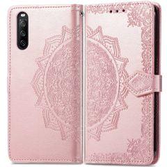 iMoshion Custodia Portafoglio Mandala Sony Xperia 10 III - Rosa oro