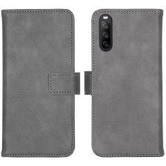 iMoshion Custodia Portafoglio de Luxe Sony Xperia 10 III - Grigio