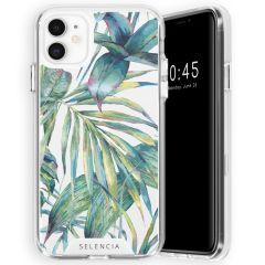 Selencia Zarya Cover Fashion Extra Protettiva iPhone 11 - Green Jungle Leaves