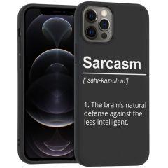iMoshion Cover Design iPhone 12 (Pro) - Sarcasm