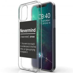 iMoshion Cover Design iPhone 12 (Pro) - Nevermind