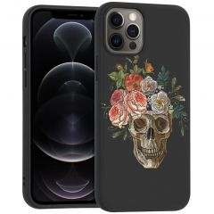 iMoshion Cover Design iPhone 12 (Pro) - Flower Skull