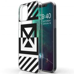 iMoshion Cover Design iPhone 12 (Pro) - Graphic Stripes