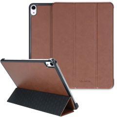 Selencia Nuria Custodia a Libro Trifold in Pelle Vegana iPad Air (2020) - Marrone