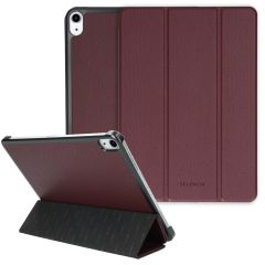 Selencia Kesia Custodia a Libro Trifold Serpente iPad Air (2020) - Rosso scuro
