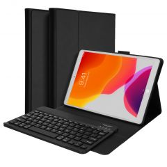 Accezz Custodia a Libro per Tastiera Bluetooth QWERTZ iPad 10.2 (2019 / 2020 / 2021) - Nero