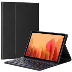 Accezz Custodia a Libro per Tastiera Bluetooth AZERTY Samsung Galaxy Tab A7 - Nero