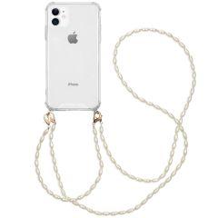 iMoshion Cover con Cordino + Bracciale - Perle iPhone 11 - Trasparente