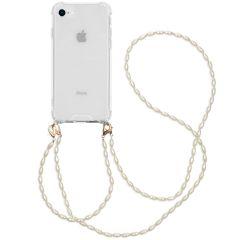 iMoshion Cover con Cordino + Bracciale - Perle iPhone SE (2020) / 8 / 7 - Trasparente
