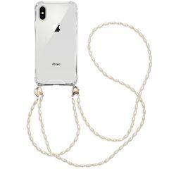 iMoshion Cover con Cordino + Bracciale - Perle iPhone Xs / X - Trasparente