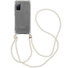 iMoshion Cover con Cordino + Bracciale - Perle Samsung Galaxy S20 FE - Trasparente