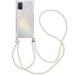 iMoshion Cover con Cordino + Bracciale - Perle Samsung Galaxy A51 - Trasparente