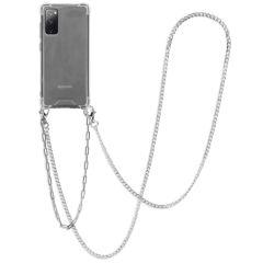iMoshion Cover con Cordino + Bracciale - Collana Samsung Galaxy S20 FE - Argento