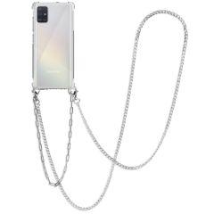 iMoshion Cover con Cordino + Bracciale - Collana Samsung Galaxy A51 - Argento