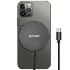 Accezz Caricabatterie Wireless da USB-C a MagSafe - 15 W - Grigio