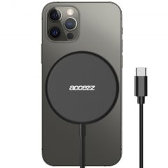 Accezz Caricabatterie Wireless da USB-C a MagSafe - 15 W - Nero