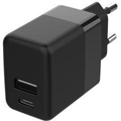 Accezz Caricatore da muro USB-C e USB-A 20 W + Power Delivery - Nero