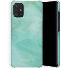 Selencia Maya Cover Fashion Samsung Galaxy A71 - Marble Green