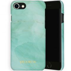 Selencia Maya Cover Fashion iPhone SE (2020) / 8 / 7 / 6(s) - Marble Green