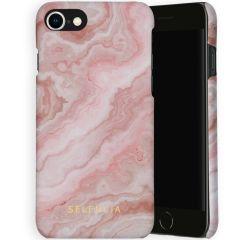 Selencia Maya Cover Fashion iPhone SE (2020) / 8 / 7 / 6(s) - Marble Rose