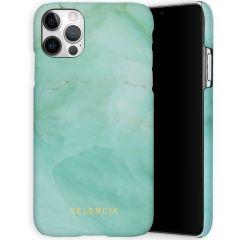 Selencia Maya Cover Fashion iPhone 12 (Pro) - Marble Green