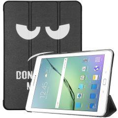 iMoshion Custodia a Libro Trifold Samsung Galaxy Tab S2 9.7 - Don't touch