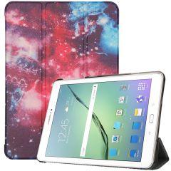 iMoshion Custodia a Libro Trifold Samsung Galaxy Tab S2 9.7 - Space Design