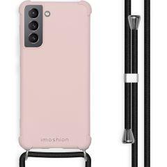 iMoshion Cover Color con Cordino Samsung Galaxy S21 - Rosa