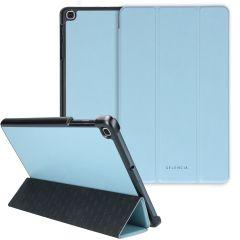 Selencia Nuria Custodia a Libro Trifold in Pelle Vegana Samsung Galaxy Tab A 10.1 (2019) - Blu