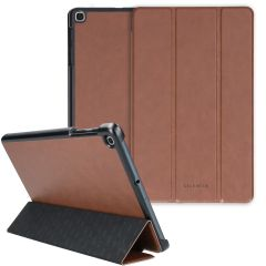 Selencia Nuria Custodia a Libro Trifold in Pelle Vegana Samsung Galaxy Tab A 10.1 (2019) - Marrone