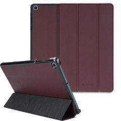 Selencia Kesia Custodia a Libro Trifold Serpente Samsung Galaxy Tab A 10.1 (2019) - Rosso scuro