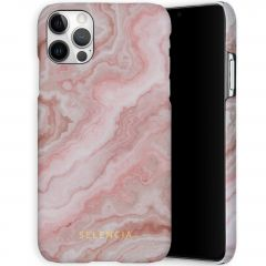 Selencia Maya Cover Fashion iPhone 12 (Pro) - Marble Rose