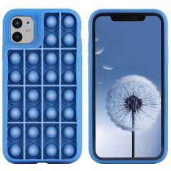 iMoshion Cover Pop It Fidget Toy iPhone 12 (Pro) - Blu scuro