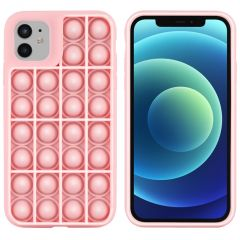 iMoshion Cover Pop It Fidget Toy iPhone 12 (Pro) - Rosa