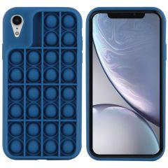 iMoshion Cover Pop It Fidget Toy iPhone Xr - Blu scuro
