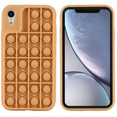 iMoshion Cover Pop It Fidget Toy iPhone Xr - Oro