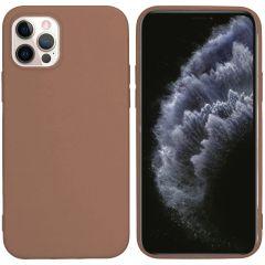 iMoshion Cover Color iPhone 12 (Pro) - Marrone