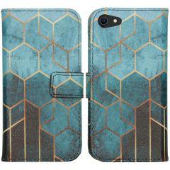 iMoshion Design Custodia a Libro Morbida iPhone SE (2020) / 8 / 7 - Green Honeycomb
