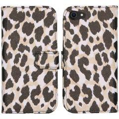 iMoshion Design Custodia a Libro Morbida iPhone SE (2020) / 8 / 7 - Golden Leopard