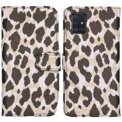 iMoshion Design Custodia a Libro Morbida Samsung Galaxy A51 - Golden Leopard